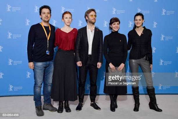 Producer Emre Oskay Coproducer Armagan Lale actor Ozgur Cevik actress Algi Eke and director Ceylan Ozgun Ozcelik attend the 'Inflame' photo call...