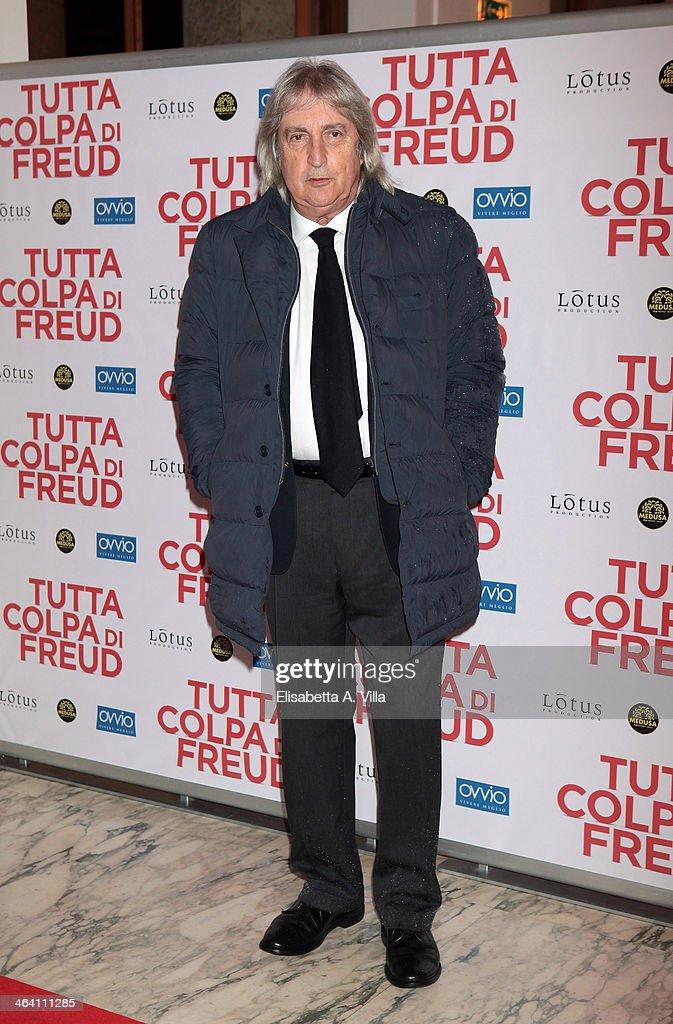 Producer Enrico Vanzina attends 'Tutta colpa di Freud' premiere at Teatro dell'Opera on January 20, 2014 in Rome, Italy.
