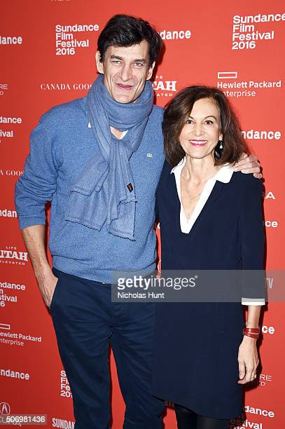 Producer Eric Altmayer and director Anne Fontaine attend the 'Agnus Dei' Premiere during the 2016 Sundance Film Festival at Eccles Center Theatre on...