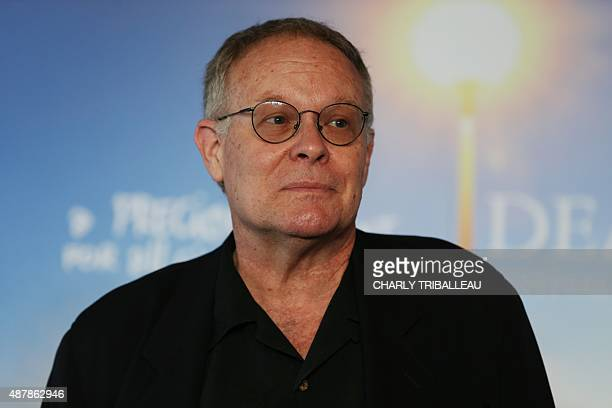 Producer Eric Overmyer poses during a photocall on September 12, 2015 in the French northwestern sea resort of Deauville, on the sideline of the 41th...