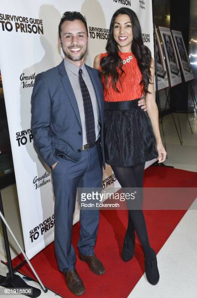 Producer Evan Ferrante and Lilly Lawrence attend the premiere of Gravitas Pictures' 'Survivors Guide To Prison' at The Landmark on February 20 2018...