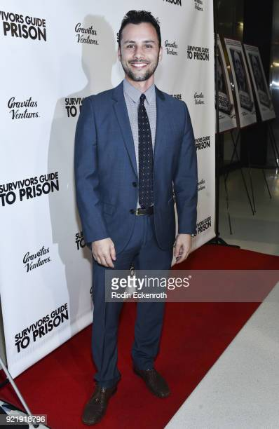 Producer Evan Ferrante attends the premiere of Gravitas Pictures' 'Survivors Guide To Prison' at The Landmark on February 20 2018 in Los Angeles...