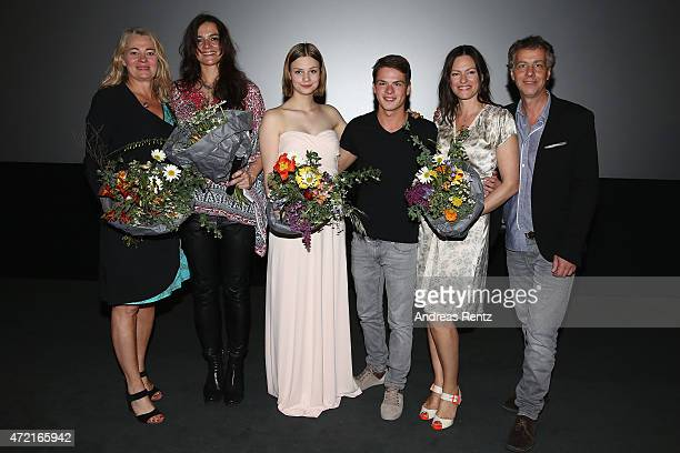 Producer Ewa Karlstroem director Katja von Garnier Hanna Binke Marvin Linke Nina Kronjaeger and producer Andreas UlmkeSmeaton attend the Frankfurt...