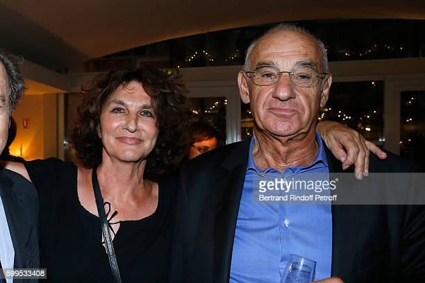 Producer Fabienne ServanSchreiber and her husband Henri Weber attend the Cezanne et Moi Premiere on September 5 2016 in Paris France