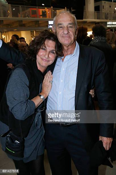 Producer Fabienne ServanSchreiber and her husband Henri Weber attend the celebration of the 40th Anniversary of the Centre Pompidou on January 10...