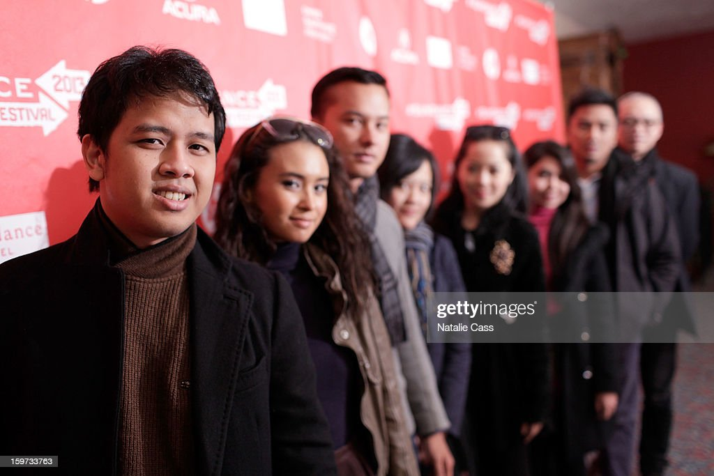Producer Fauzan Zidni, actress Ayushita, actor Nicholas Saputra, writer/director Mouly Surya, actresses Karina Salim and Lupita Jennifer and producers Rama Adi and John Badalu attend the 'What They Talk About When They Talk About Love' premiere at Prospector Square during the 2013 Sundance Film Festival on January 19, 2013 in Park City, Utah.