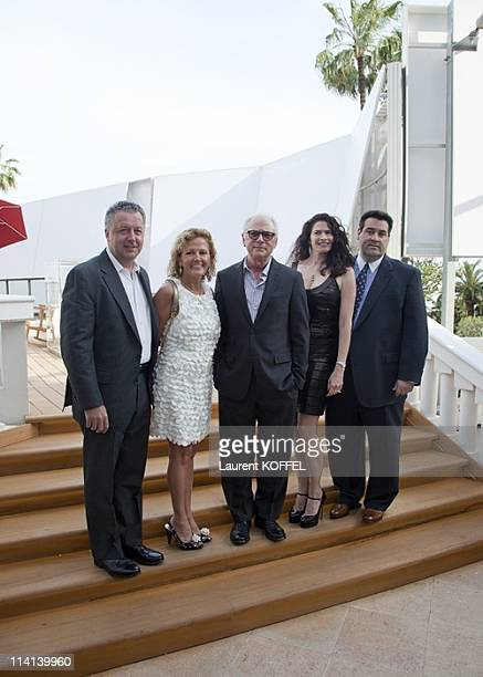 Producer Fay Devlin and his wife director Barry Levinson and producer Marc Fiore with his wife attend the 'Gotti Three Generations' photocall during...