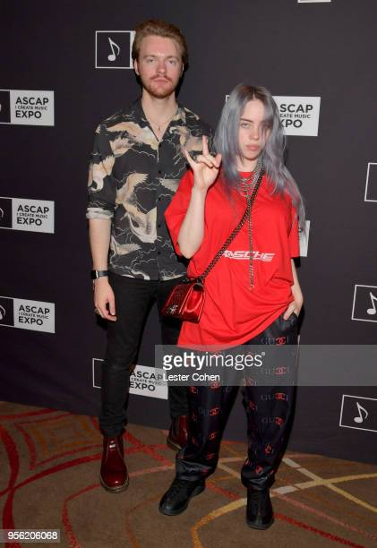 Producer Finneas O'Connell and Singer/Songwriter Billie Eilish attend the 'Billie Eilish and Finneas O'Connell in Conversation' panel at The 2018...