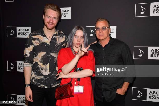 Producer Finneas O'Connell Singer/Songwriter Billie Eilish and Radio Host Chris Douridas attend the 'Billie Eilish and Finneas O'Connell in...