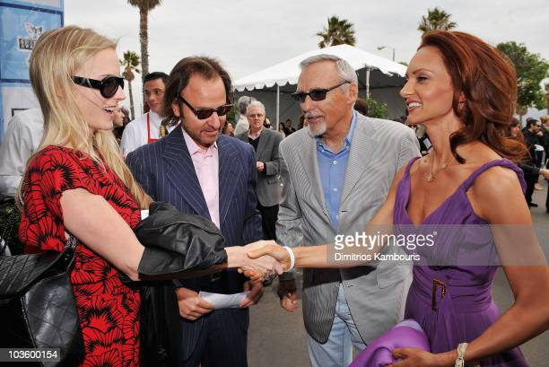 Producer Fisher Stevens actor Dennis Hopper wife Victoria Duffy and guest at Stoli at the 2008 Film Independent's Spirit Awards at the Santa Monica...