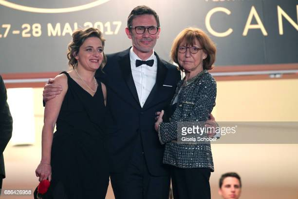 Producer Florence Gastaud director Michel Hazanavicius and Anne Wiazemsky attend the 'Redoubtable ' screening during the 70th annual Cannes Film...