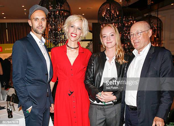 Producer Florian Gottschick Katja Eichinger and journalist Stefan Aust with his daughter Emilie Aust attend the First Steps Awards 2016 at Stage...