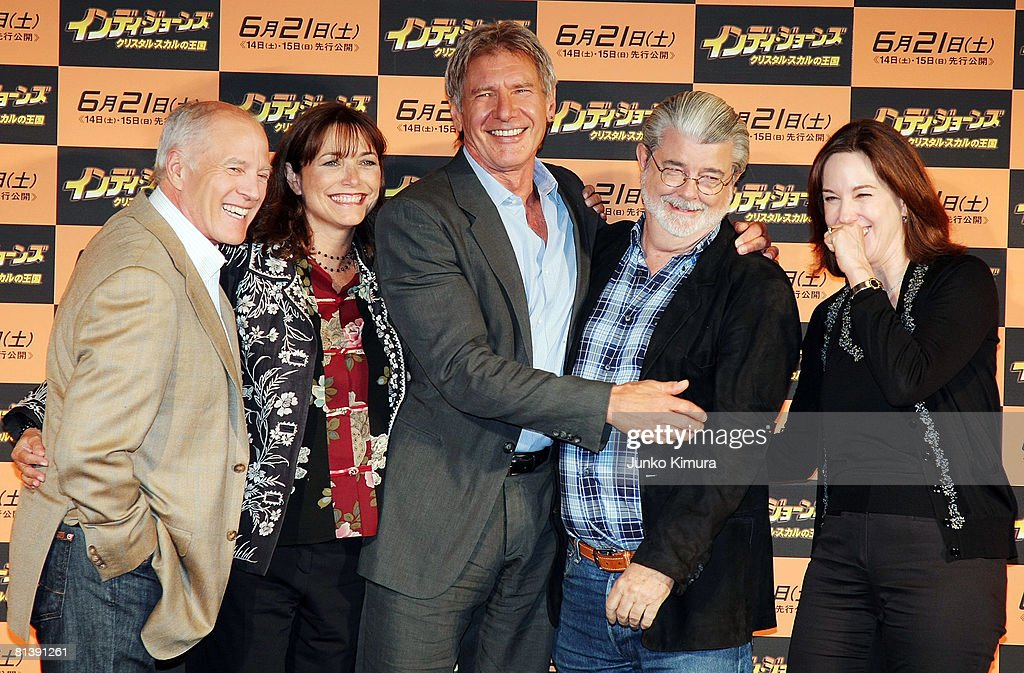 """""""Indiana Jones And The Kingdom Of The Crystal Skull"""" Press Conference : News Photo"""