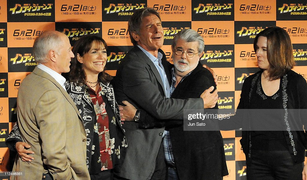 """""""Indiana Jones And The Kingdom Of The Crystal Skull"""" Press Conference in Tokyo : News Photo"""