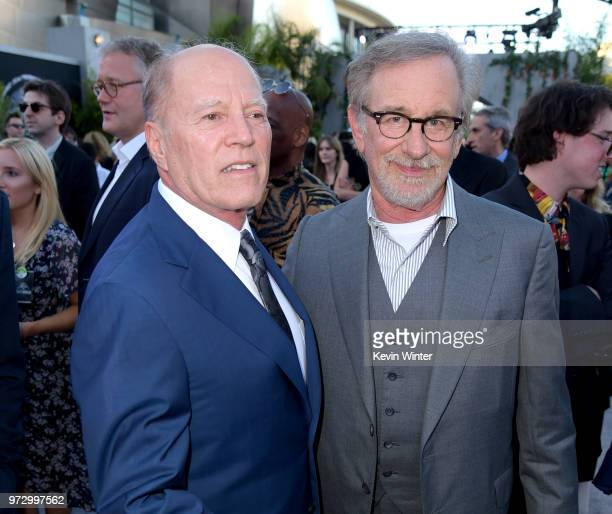 Producer Frank Marshall and executive producer Steven Spielberg arrive at the premiere of Universal Pictures and Amblin Entertainment's 'Jurassic...
