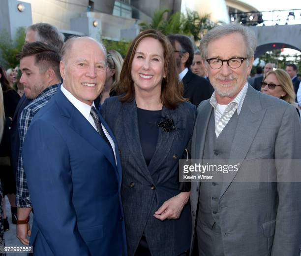 Producer Frank Marshall Kathleen Kennedy and executive producer Steven Spielberg arrive at the premiere of Universal Pictures and Amblin...