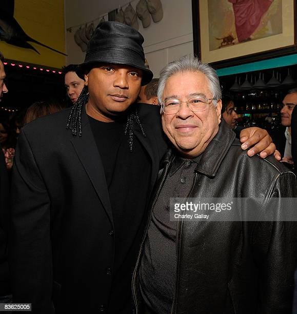 Producer Frank Reyes and CoChairman Maya Entertainment Moctesuma Esparza attend the Maya Entertainment cocktail reception at Lula's on November 9...