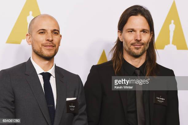 Producer Fred Berger and cinematographer Linus Sandgren attends the 89th Annual Academy Awards Nominee Luncheon at The Beverly Hilton Hotel on...