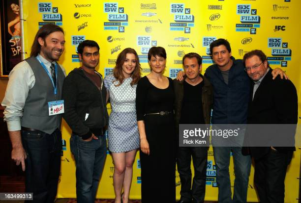 Producer Gabe Cowan actors Kumail Nanjiani and Gillian Jacobs producer Adele Romanski writer/director Jacob Vaughan and actors Ken Marino and Stephen...