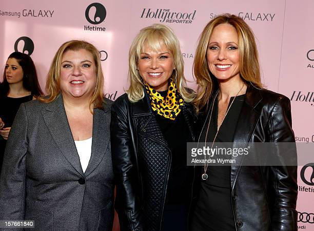 Producer Gail Berman Producer Linda Bell Blue and Chairman of Twentieth Century Fox Television Dana Walden attend The Hollywood Reporter's 'Power 100...