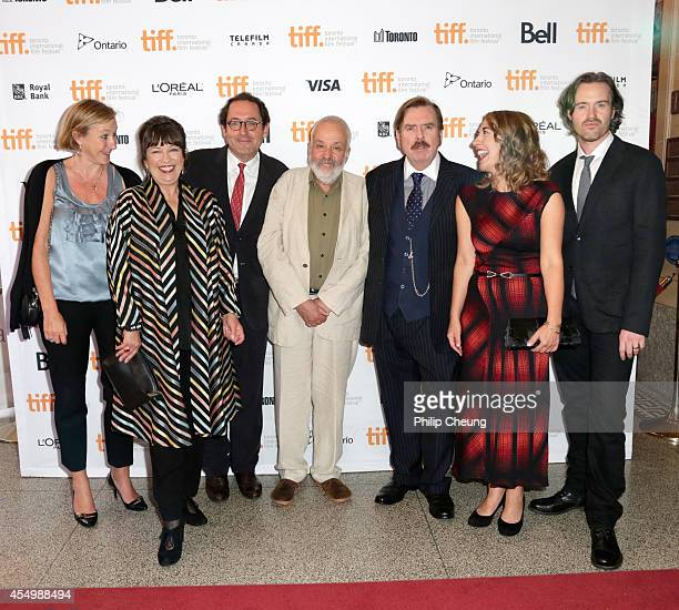 Producer Gail Egan actress Marion Bailey copresident of Sony Pictures Classics Michael Barker director Mike Leigh actor Timothy Spall actress Dorothy...