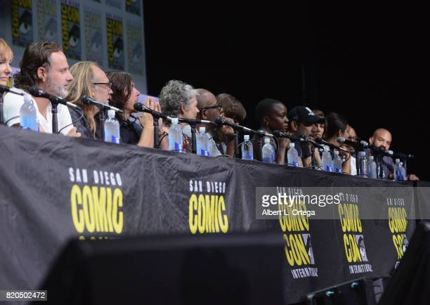 Producer Gale Anne Hurd actor Andrew Lincoln producer Greg Nicotero actors Norman Reedus Melissa McBride Lennie James Chandler Riggs Danai Gurira...