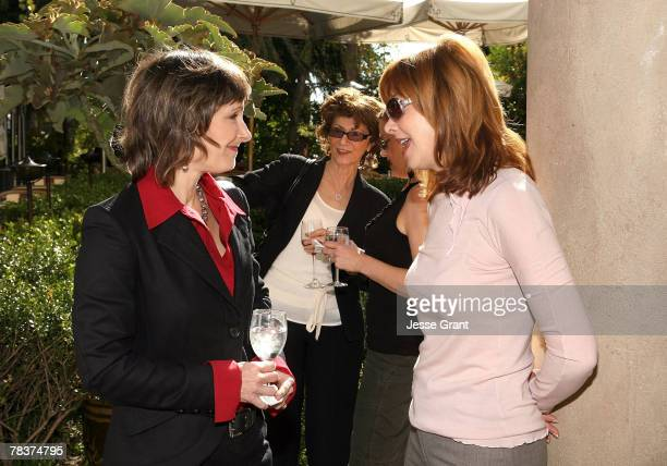 Producer Gale Anne Hurd and Actress Sharon Lawrence at the More Magazine and Women In Film filmmaker luncheon at Chateau Marmont on December 10 2007...