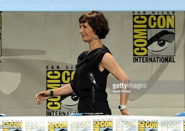 Producer Gale Anne Hurd attends AMC's 'The Walking Dead' panel during ComicCon International 2014 at San Diego Convention Center on July 25 2014 in...