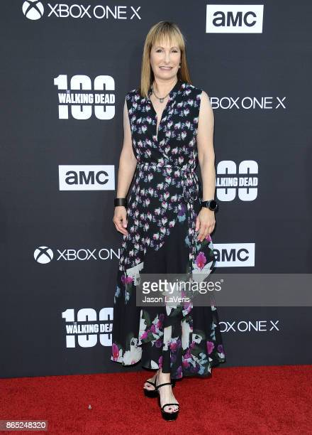 Producer Gale Anne Hurd attends the 100th episode celebration off 'The Walking Dead' at The Greek Theatre on October 22 2017 in Los Angeles California