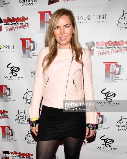 Producer Galina Antonova attends The Stained Red Carpet Comedy Fundraiser at The Comedy Chateau on May 29, 2021 in North Hollywood, California.