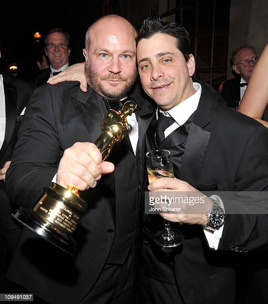 Producer Gareth Unwin and David Glasser COO Weinstein Company attend the Weinstein Company's celebration for Best Picture winner 'The King's Speech'...