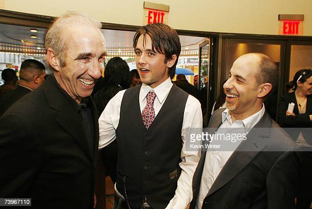 Producer Gary Barber actor Justin Chatwin and director David S Goyer talk at a screening of Hollywood Picture's The Invisible at the Bruin Theatre on...