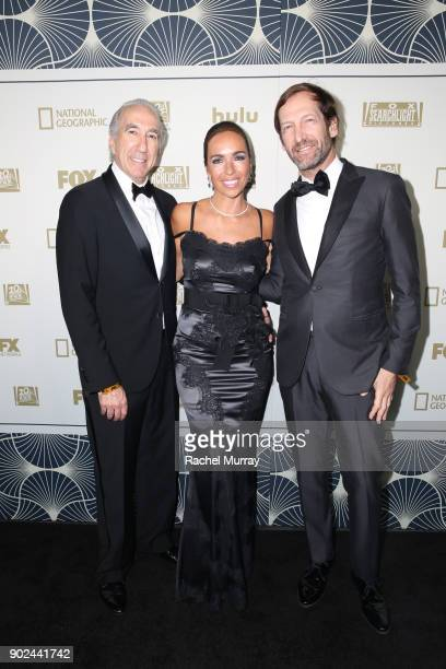 Producer Gary Barber Nadine Barber and producer Kevin Ulrich attend Hulu's 2018 Golden Globes After Party at The Beverly Hilton Hotel on January 7...