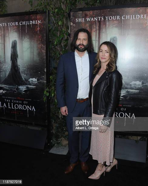 Producer Gary Dauberman and Sara Dauberman arrive for the Premiere Of Warner Bros' The Curse Of La Llorona held at the Egyptian Theatre on April 15...