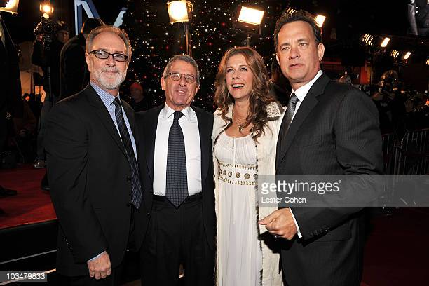 Producer Gary Goetzman president and COO of Universal Studios Ron Meyer actress Rita Wilson and actor/producer Tom Hanks arrive to the premiere of...