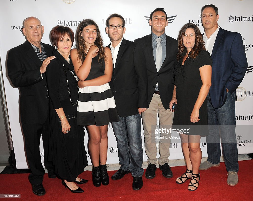 Producer Gary Preisier and family at the screening of 'Blunt Force Trauma' held at CAA on July 20, 2015 in Century City, California.