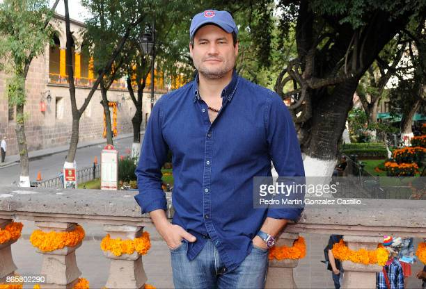 Producer Gastón Pavlovich poses prior to the presentation of the film Helena as part of XV Morelia International Film Festival on October 23 2017 in...