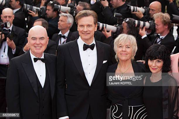 Producer Ged Doherty, actor Colin Firth, producer Sarah Green, producer Nancy Buirski attend the 'Loving' red carpet arrivals during the 69th annual...
