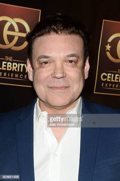 Producer George Caceres arrives at The Celebrity Experience with Debby Ryan at Hilton Universal Hotel on January 6 2016 in Los Angeles California