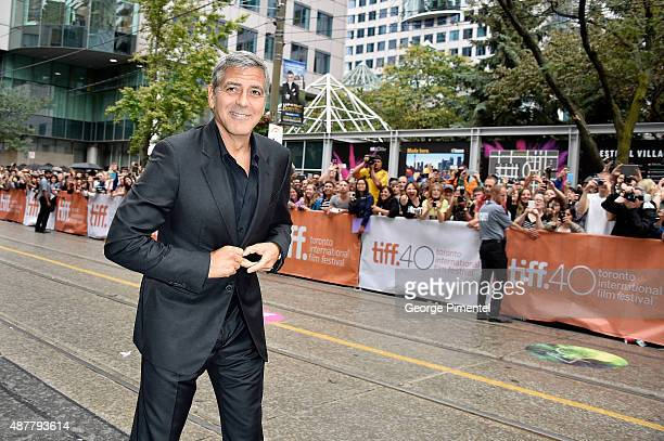 Producer George Clooney attends the 'Our Brand is Crisis' premiere during the 2015 Toronto International Film Festival at Princess of Wales Theatre...