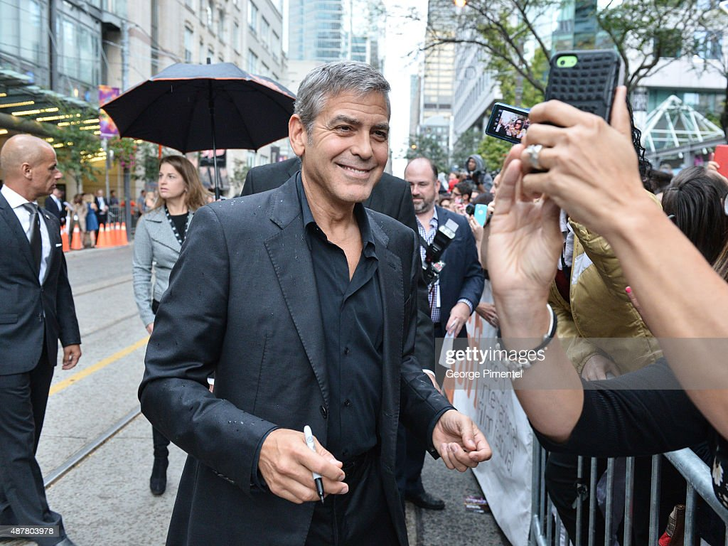 Producer George Clooney attends the 'Our Brand is Crisis' premiere during the 2015 Toronto International Film Festival at Princess of Wales Theatre on September 11, 2015 in Toronto, Canada.