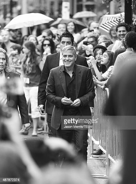 Producer George Clooney attends the 'Our Brand is Crisis' premiere during the 2015 Toronto International Film Festival at the Princess of Wales...