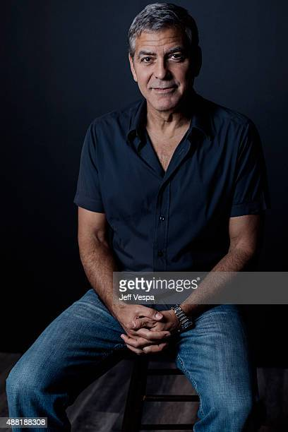 Producer George Clooney of 'Our Brand Is Crisis' poses for a portrait at the 2015 Toronto Film Festival at the TIFF Bell Lightbox on September 12...