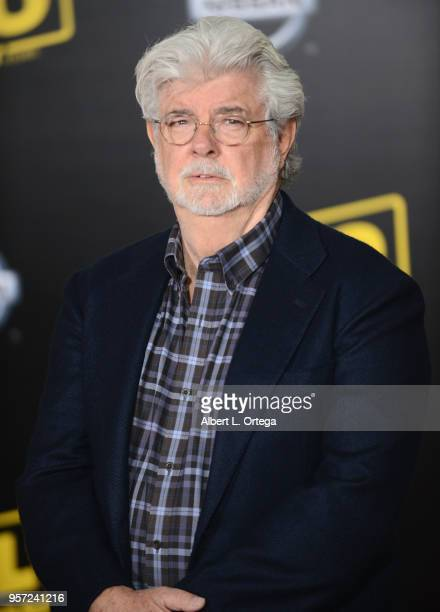 """Producer George Lucas arrives for the Premiere Of Disney Pictures And Lucasfilm's """"Solo: A Star Wars Story"""" held on May 10, 2018 in Los Angeles,..."""