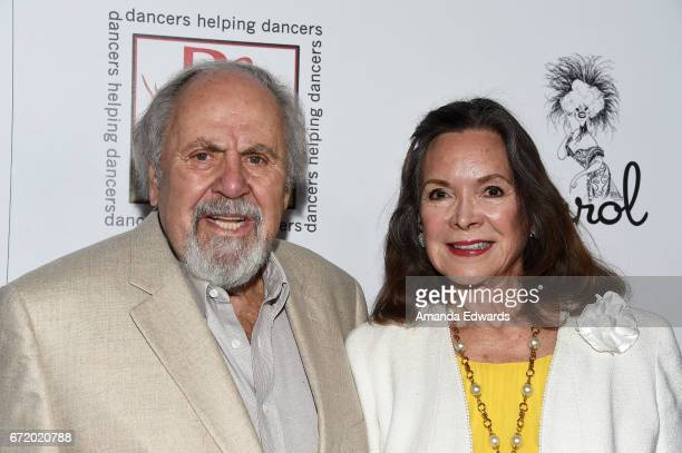 Producer George Schlatter and actress Jolene Brand arrive at the 30th Annual Gypsy Awards Luncheon at The Beverly Hilton Hotel on April 23 2017 in...