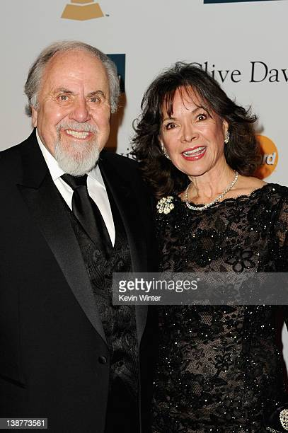 Producer George Schlatter and Jolene Brand arrive at Clive Davis and the Recording Academy's 2012 PreGRAMMY Gala and Salute to Industry Icons...