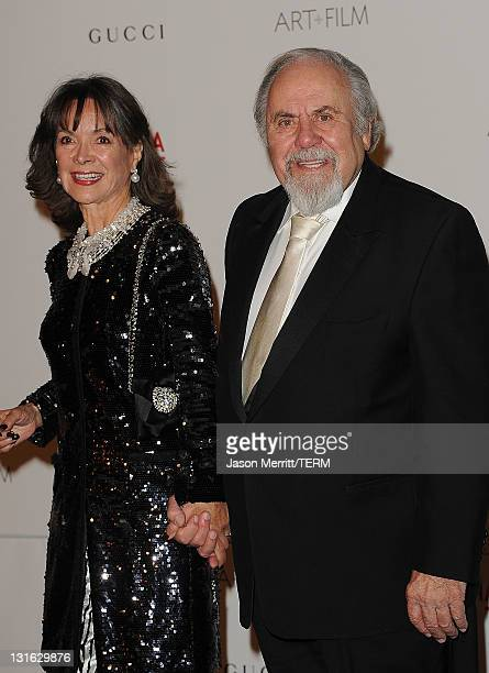 Producer George Schlatter and Jolene Brand arrive at LACMA's Art And Film Gala Honoring Clint Eastwood And John Baldessari at LACMA on November 5...