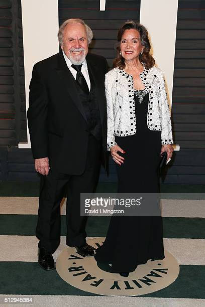Producer George Schlatter and Jolene Schlatter arrive at the 2016 Vanity Fair Oscar Party Hosted by Graydon Carter at the Wallis Annenberg Center for...