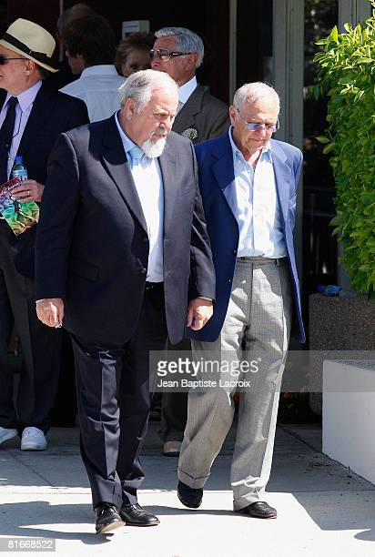 Producer George Schlatter attends the Cyd Charisse's Funeral Service at Hillside Memorial Park on June 22 2008 in Culver CityCalifornia