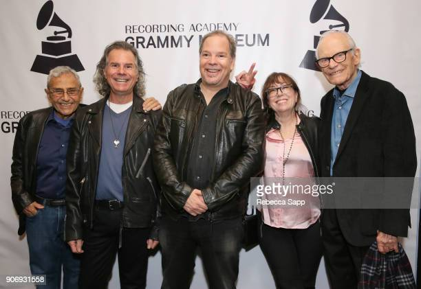 Producer George Shapiro guitarist/composer Terry Wollman director Danny Gold executive producer Aimee Hyatt and songwriter Alan Bergman attend Reel...